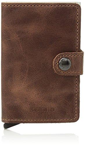 Secrid Men Mini Wallet Genuine Leather Vintage RFID Safe Card Case for max 12 cards