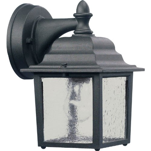 Quorum 793-15 Outdoor Wall Sconce, 1-Light, 60 Watts, Black