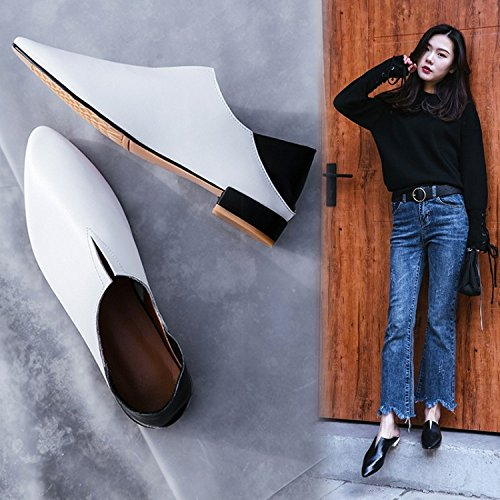 Zapatos Perezosos Ocasionales Forman Femeninos Planos Cómodos Cómodos los ZFNYY Acentuados Los Zapatos xq8UwwIYz