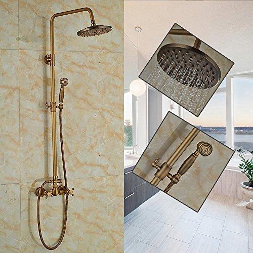 """Senlesen Antique Brass 8"""" Rainfall Bathroom Shower Faucet..."""