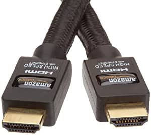 AmazonBasics - Cable HDMI de alta velocidad (3 m, con Ethernet, 3D y canal de retorno de audio) [nuevo estándar]