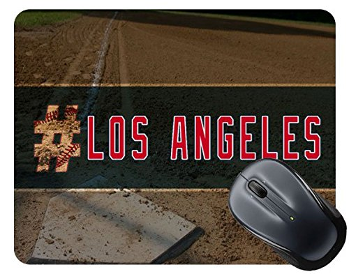 BleuReign(TM) Hashtag Los Angeles #LosAngeles Anaheim Baseball Team Square Mouse (Anaheim White Baseball)