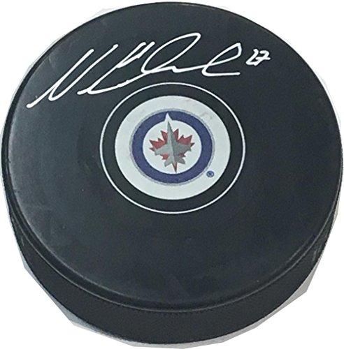 J World New York Nikolaj Ehlers Winnipeg Jets Signed Autograph Model Hockey Puck - Jets Winnipeg Signed