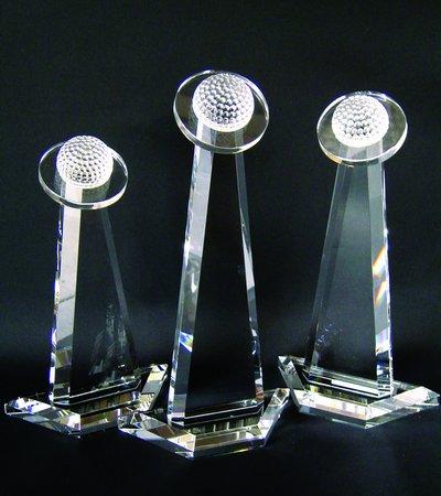 Crystal Golf Tower Award (Halo Golf Tower Crystal Trophy - Small)
