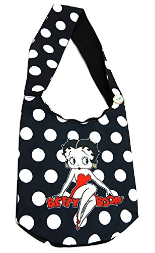 (Betty Boop Cross Body Hobo Purse Poly/Canvas Material w/ Zippered)