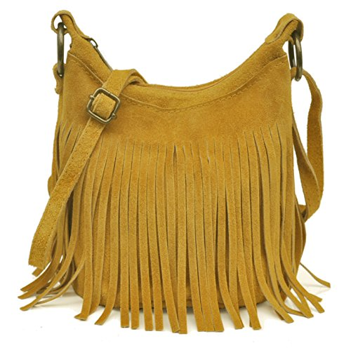 Lae Franges Adultes Italie 18 17 en Seau cm Petit Sac Velours E l x H Adolescentes Moutarde Veau In Jaune Les x Fabriqué 15 Cuir Collection zAqnrgzpw