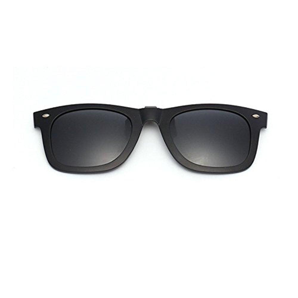 Espejo polarizado con ganchos para gafas de sol plásticas Gafas negras con