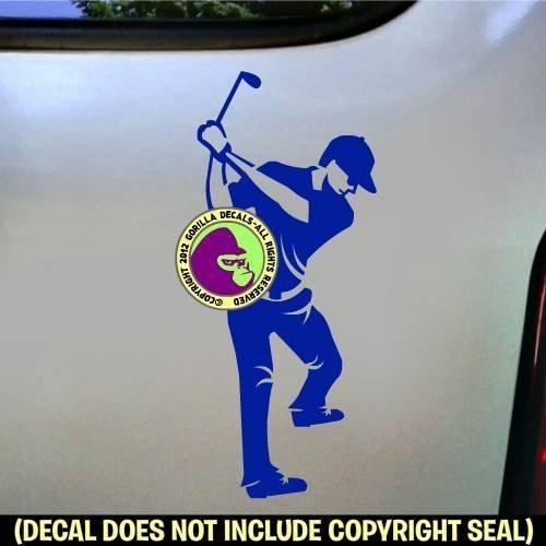 GOLFER MALE Vinyl Decal Sticker E