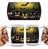 Halloween Coffee Mug - Spooky Jack-O-Lanterns - 15 Oz
