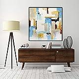 30 x 30 large original abstract painting artwork wall art modern fine art by L.Beiboer
