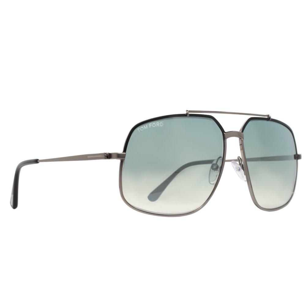 17a1495d6f Amazon.com  Tom Ford TF439 Ronnie 01Q Mens Gunmetal Black 60 mm Sunglasses   Clothing