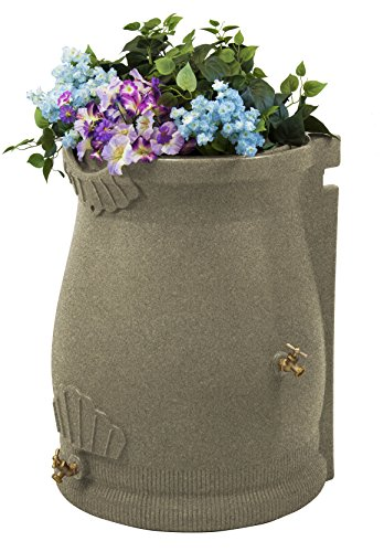 Good Ideas RWURN50-SAN Rain Wizard Rain Barrel Urn, 50 gallon, Sandstone