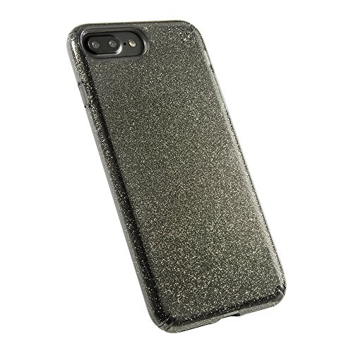 - Speck 79983-5637 Products Presidio Clear + Glitter Cell Phone Case for iPhone 7 Plus - Gold Glitter/Onyx Black Clear