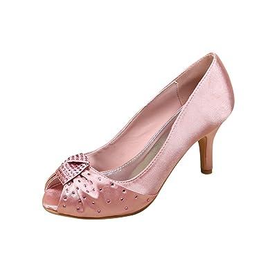Women Summer Shoes Pink Princess Dress Shoe