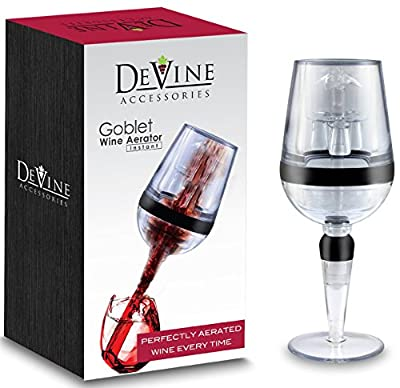 DeVine- AERATOR, Goblet Design Instant Wine Aerator - Professional Grade - Aerate Wines in Seconds by Agog
