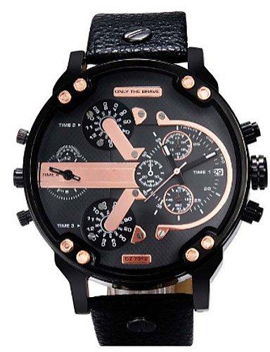 Famosos Marca Reloj Deportivo DZ Ruso Reloj de hombre militar Cuarzo Reloj Reloj hombre Casual relogio masculino 7312 Reloj, Black: Amazon.es: Relojes