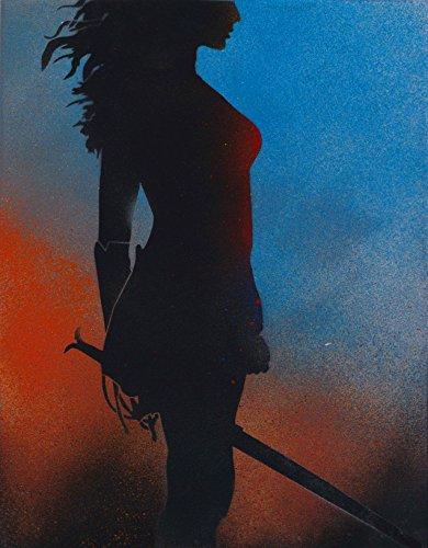 Wonder-Woman-Movie-Graffiti-Spray-Paint-Art-Movie-Poster-on-Metal