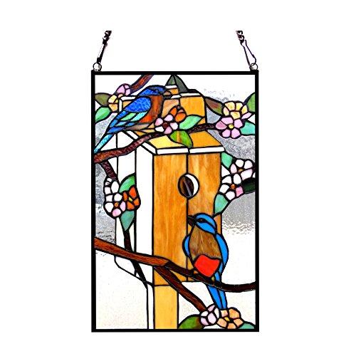 Tiffany-Glass Window Panel 12x19 ()