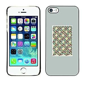 Cubierta de la caja de protección la piel dura para el Apple iPhone 5 / 5S - Grey Metal Pattern Texture