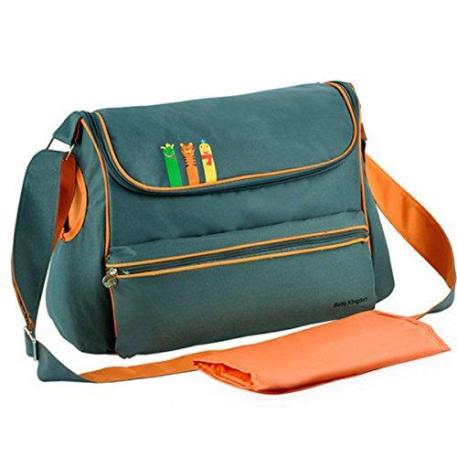 Imperméable momie sac bandoulière sac à langer bébé Grande Capacité Sac à langer Dark green
