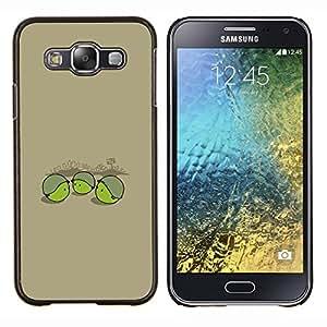 Caucho caso de Shell duro de la cubierta de accesorios de protección BY RAYDREAMMM - Samsung Galaxy E5 E500 - Soldado Pea divertido
