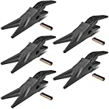Set of (5) 23WTL Bucket Twin Tiger Tooth Assembly JD Style Shank T23 Flex Pin