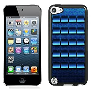 New Personalized Custom Designed For iPod Touch 5th Phone Case For Blue Shelves with Swirls Background Phone Case Cover