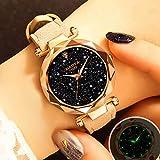 Fashion Crystal Luxury Brand Women Watches 2019 Rose Gold Ladies Wrist Watch Quartz Dress Wristwatch (Beige)