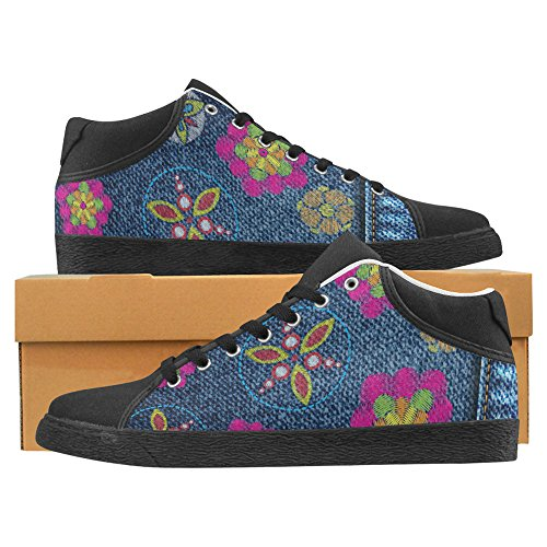 Sneakers In Chukka Di Jeans Con Stampa Interestprint Per Jeans A Fiori Da Donna 1