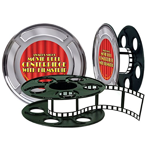 Club Pack of 12 Awards Night Movie Reel with Filmstrip Centerpiece Decorations15'