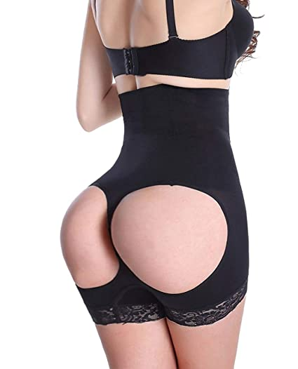 4c24631d57 Image Unavailable. Image not available for. Color  FLORATA Butt Lift  Booster Booty Lifter Panty Enhancer Tummy ...