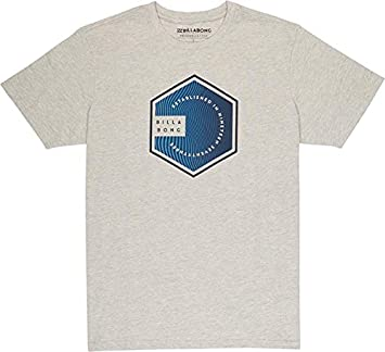 Billabong Six SS Camiseta, Hombre, Gris (Gris Heather 9), Small