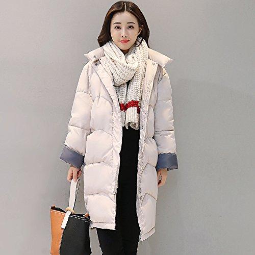 rodillas las las de de señoras chaqueta pan larga sobre gran grueso abrigo Green algodón sección Invierno tamaño de mujeres nuevo OwqxFF46