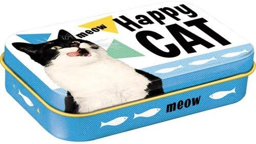 Nostalgic-Art 82204 Happy Cat Leckerli-Dose Leckerlis-Box auch für Unterwegs To Go, mehrfarbig
