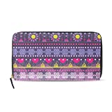 Womens Zipper Wallet Africa Art Nation Clutch Purse Card Holder Bag