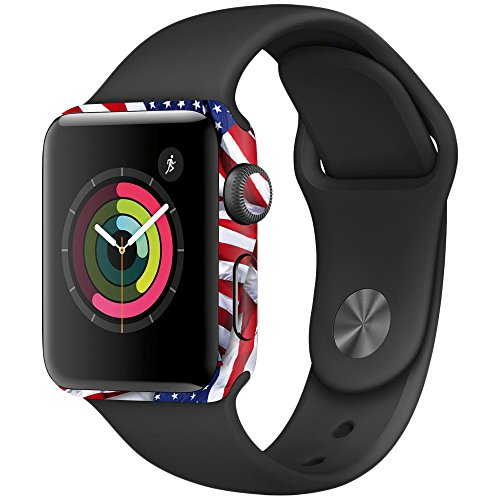Price comparison product image MightySkins Skin Compatible with Apple Watch Series 3 42mm - Patriot / Protective,  Durable,  and Unique Vinyl Decal wrap Cover / Easy to Apply,  Remove,  and Change Styles / Made in The USA