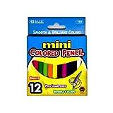 BAZIC 12 Mini Color Pencil (Case of 12) (769-12)