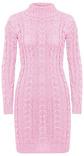 Femme Pull B Longues Robe Rose Manches Robe Generic qUAwXx7C47