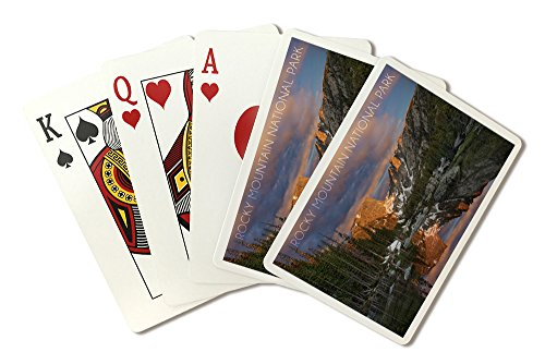 Rocky Mountain National Park, Colorado - Dream Lake Sunset (Playing Card Deck - 52 Card Poker Size with Jokers) by Lantern Press