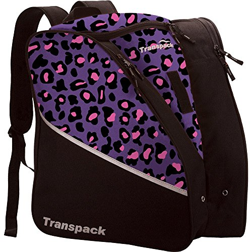Edge Junior Ski Boots - Transpack Edge Junior Ski Boot Bag - Purple/Pink Leopard
