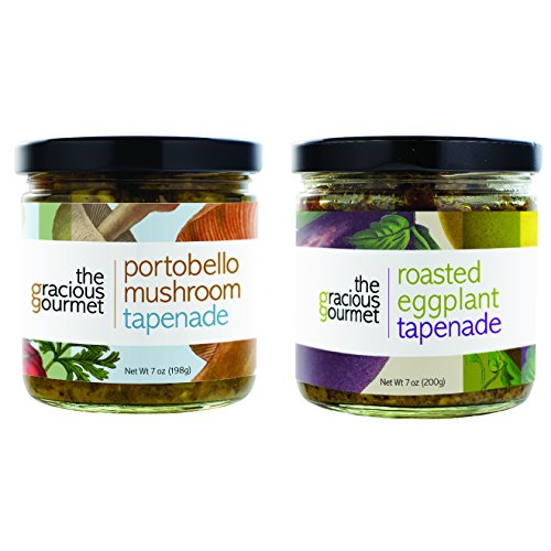 (The Gracious Gourmet Tapenade Duo, Roasted Eggplant and Portobello Mushroom , 14-Ounce)