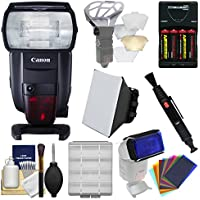 Canon Speedlite 600EX II-RT Flash with Soft Box + Diffuser Bouncer + Color Gels + Batteries & Charger + Kit