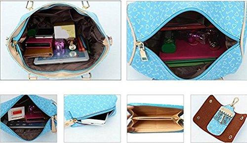 Borse Azzurro Donna Honeymall 6 Set borse Pezzi Tote Donna Axxd8a1