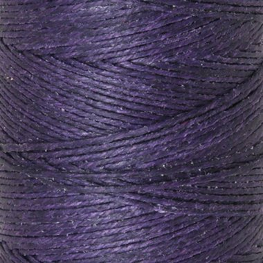 Waxed Irish Linen-plum. Sold per 10 yards of 4-ply