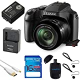 Panasonic LUMIX DC-FZ80 18.1 MP Digital Camera with 60x Optical Image Stabilized Zoom and 3-Inch LCD (Black) with 16 GB Memory Card and Pixi Starter Bundle