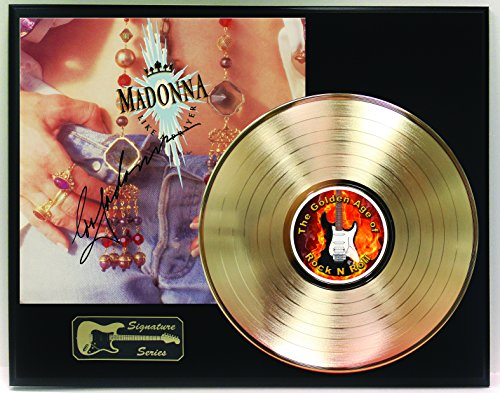 Madonna Gold LP Record Reproduction Signature Series Limited Edition Display