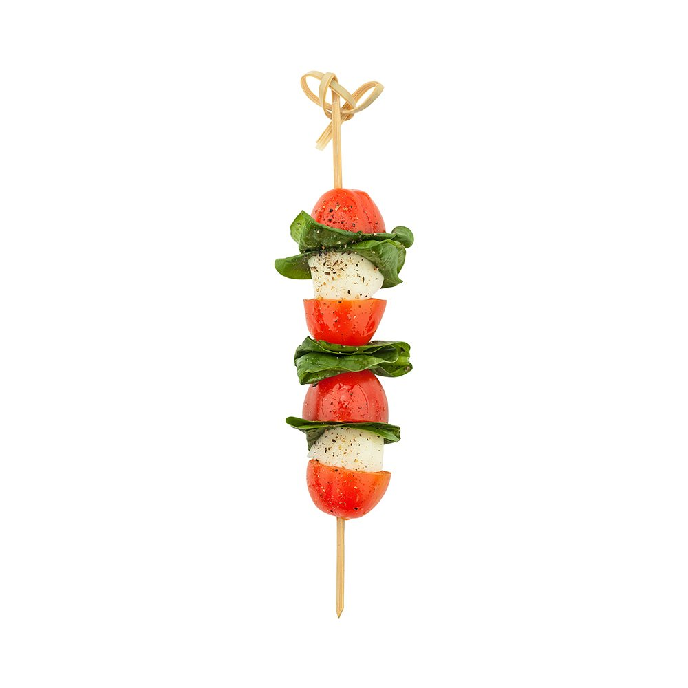 1000-CT 4-inch Knotted Bamboo Skewers: Perfect for Serving Appetizers and Cocktail Garnishes Restaurantware RWB0131 Natural Color Disposable and Eco-Friendly