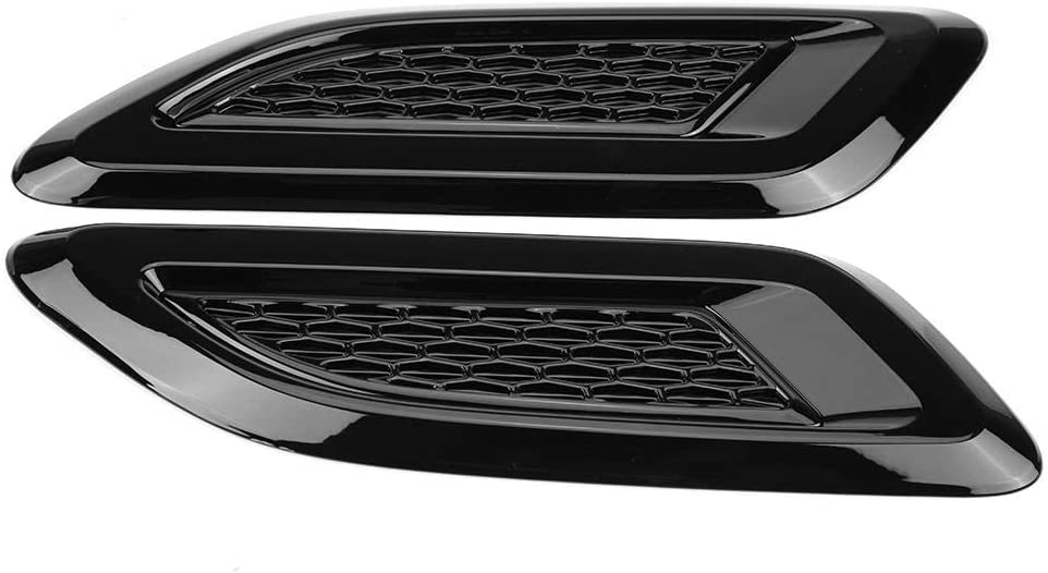 2x Hood Air Vent Outlet Wing Trim for Land Rover Range Rover Evoque 2012-2018