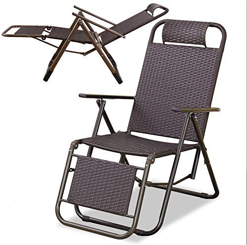 Eeayyygch Liegestühle   Patio-Chaiselongue im Freien, die Recline-Mittel, A, 1 Pack faltet (Farbe   2 Pack)