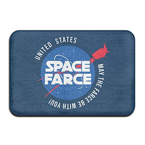 UDSNIS Space Farce - May The Farce Be with You Non-Slip Doormat Funny Rubber Floor Rug Bath Mat All Weather Absorbent for Entrance Way Outdoors,Farmhouse,Office Etc ()
